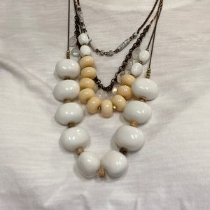 Anthropologie 4 tiered bauble necklace
